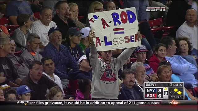 "Red Sox Fans Think A-Rod Is A ""Looser"""