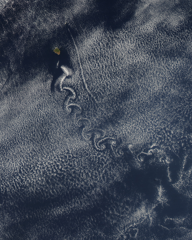 These Trippy Spirals Are an Island's Atmospheric Exhaust
