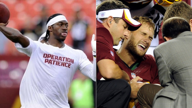 Kirk Cousins Injured; RGIII Still Not Cleared For Week 1