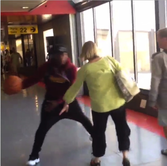 Just Nate Robinson Dribbling Around Random People At The Airpor…