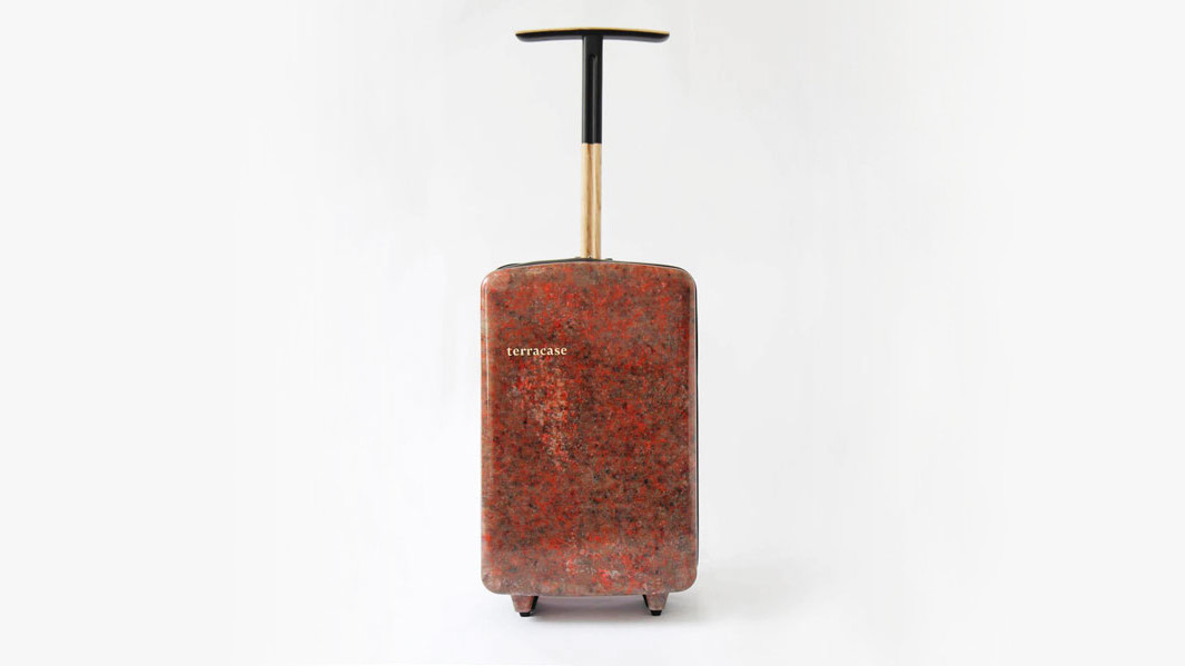 This Hard Shell Suitcase Is Made From Recycled Carpet