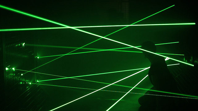 A Laser-Filled Room Lets You Indulge Your Entrapment Fantasies