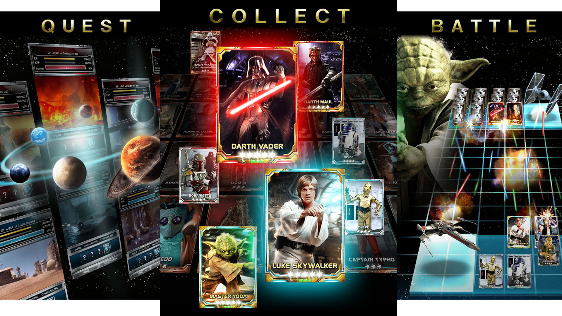 Image result for STAR WARS: FORCE COLLECTION novas cartas