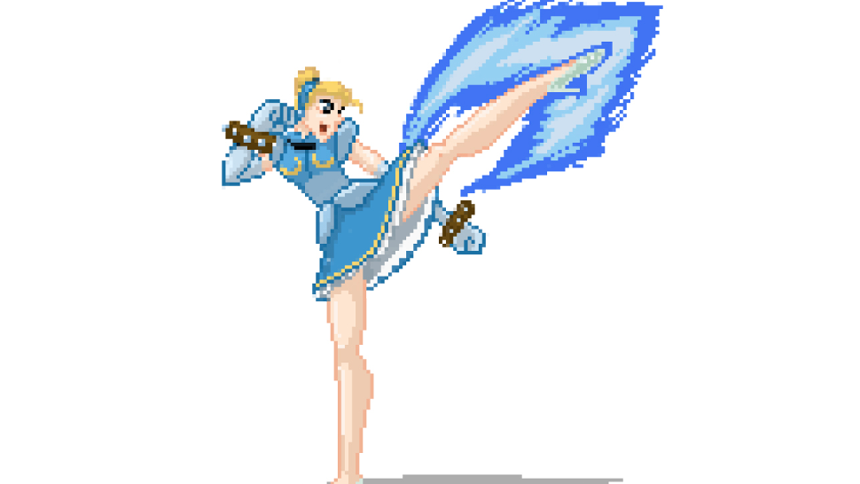 If Disney Princesses Were Old-School Street Fighter Characters...