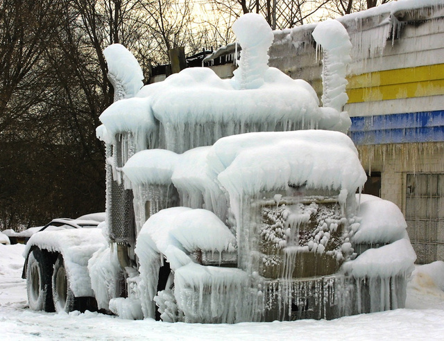 These alien-looking ice sculptures formed all on their own
