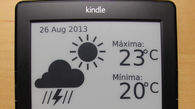 Add Weather and Google Calendar Information to Your Kindle