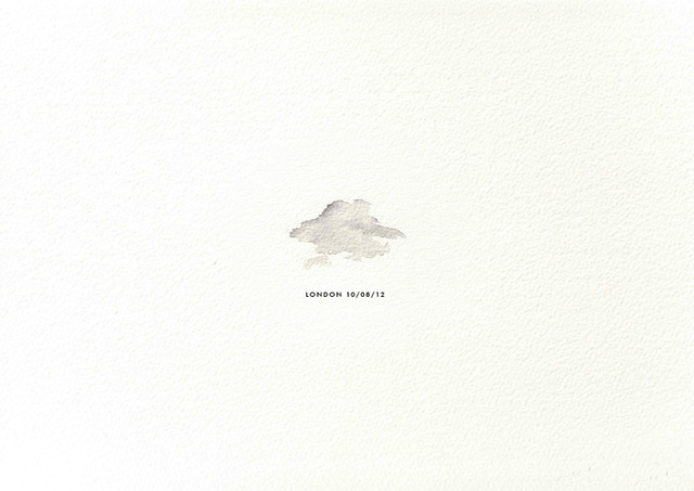 These Minimalist Watercolors Are Made From Real Drops Of Rain