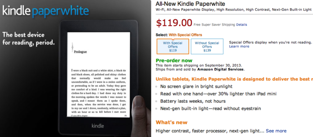 New Kindle Paperwhite Now Available For Pre-Order