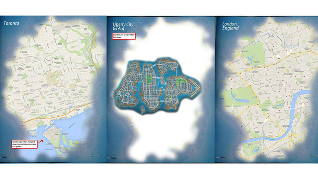 GTA 5 Map Compared to the Google Maps of Major Cities