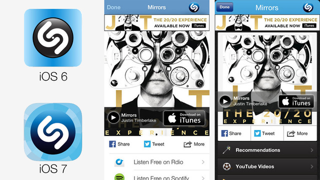 How Different Your Favorite Apps Look in iOS 7