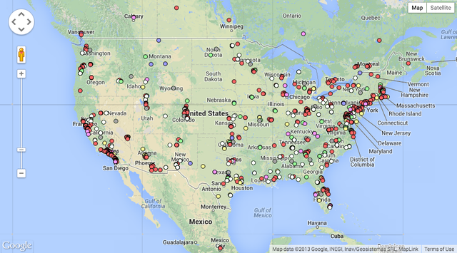 A Map of Where All the Drones Live in the United States