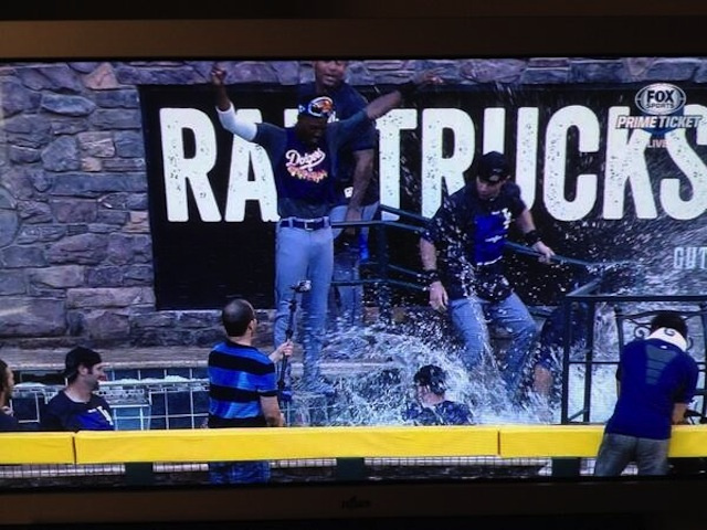 Dodgers Clinch NL West, Celebrate By Swimming In D-Backs' Pool