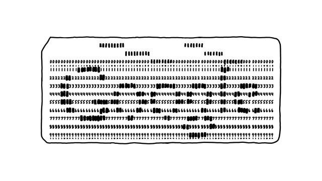 If Data Was Stored on Punch Cards, How Much Space Would Google Need?