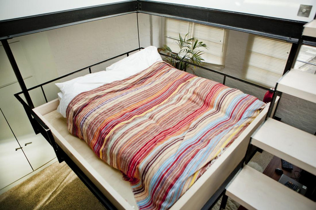 This Hanging Bed Is the Ultimate Tiny Apartment Hack