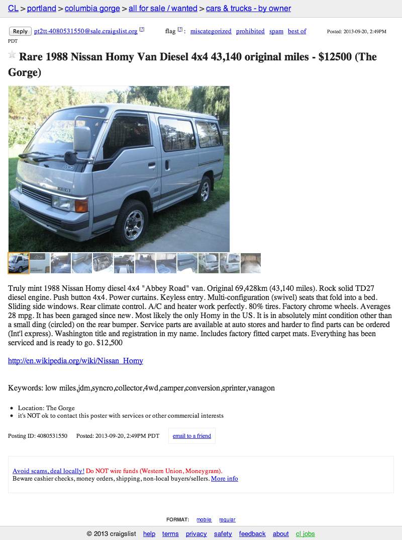 Portland Craigslist Cars And Trucks By Owner >> For 12 500 Homy Don T You Know Me