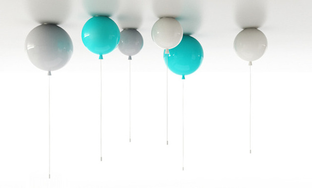 Add Some Lift to Your Living Room with These Balloon-Shaped Lights
