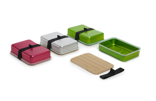 This Aluminum Lunch Box Comes With Its Own Cutting Board Lid