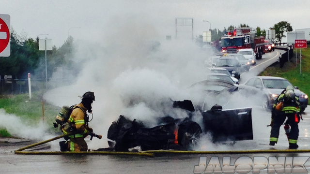 This Is What Fiery Tesla Model S Death Looks Like (UPDATED)