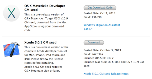 Apple OS X Mavericks Gold Master Is Out