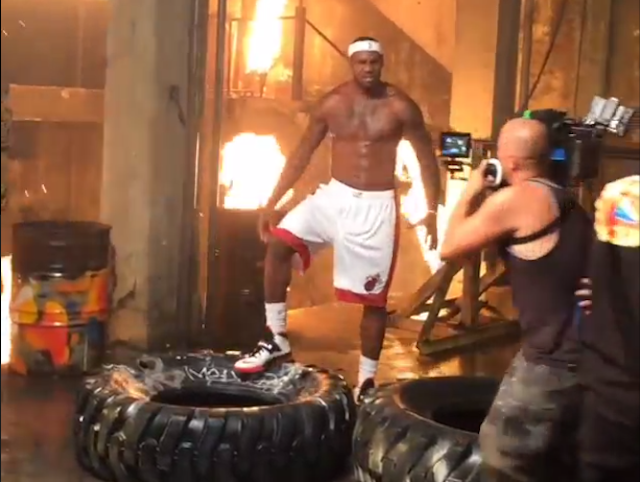 Here Are Some Clips Of LeBron And The Heat's Video Shoot To Lau…
