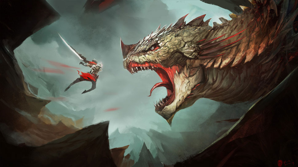 Giant Dragon Artist Frank Hong used to work