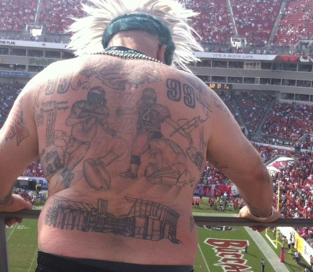 This eagles fan is covered in unfortunate tattoos for Gerald green tattoo