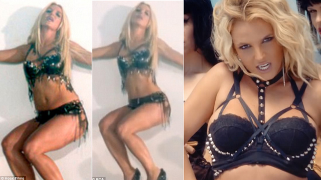 Britney Got a Digital Slimdown to Look Skinny in 'Work Bitch' Video