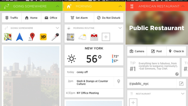 Aviate: An Android App Launcher That Changes to Fit Your Day