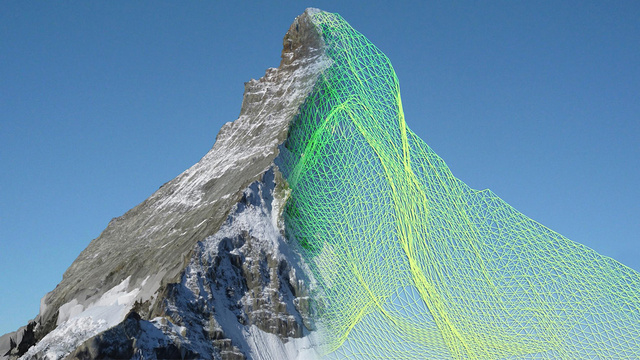 A Swarm of Drones 3D-Mapped the Matterhorn in Stunning Detail
