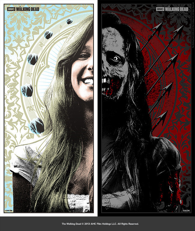 A zombie horde of awesome art from the Walking Dead art show