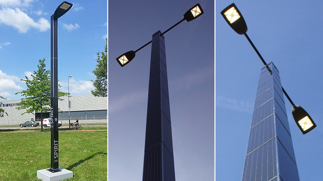 Self-Contained Solar-Powered Streetlights Stay Completely Off the Grid