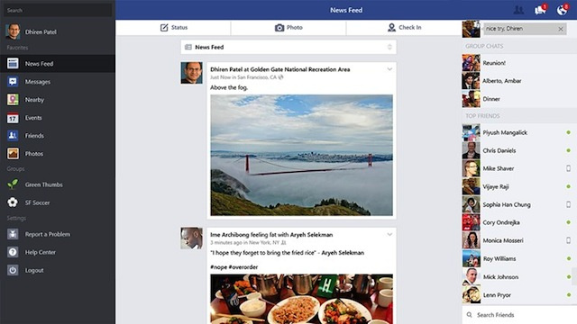 Facebook Unveils a New Native App for Windows 8.1