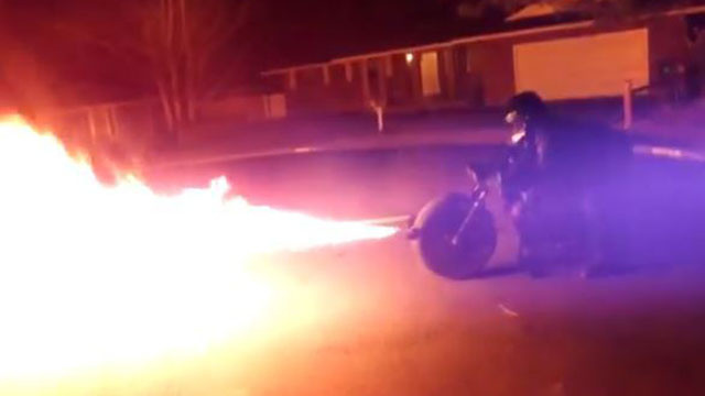 You Can Actually Buy This Electric Flame-Throwing Batpod