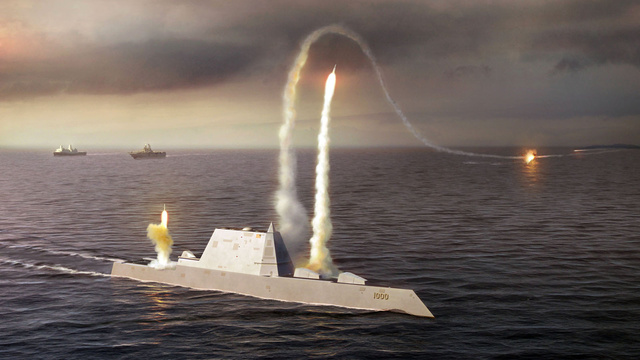 America's 21st Century Destroyer Set Sail For the First Time Saturday