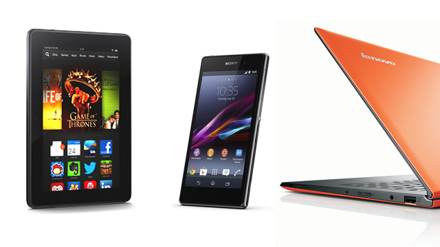Now Available: Kindle Fire HDX, Lenovo Yoga 2 Pro, Sony Xperia Z1, More