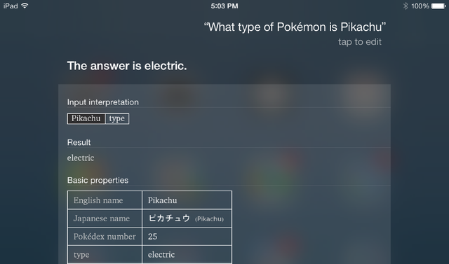 Search Engine Update Turns Your iPad into a Pokédex
