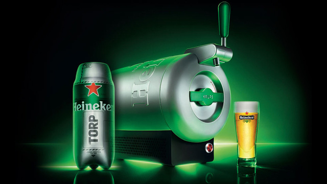 Heineken's Countertop Sub Chills Beer Colder Than Your Fridge Can