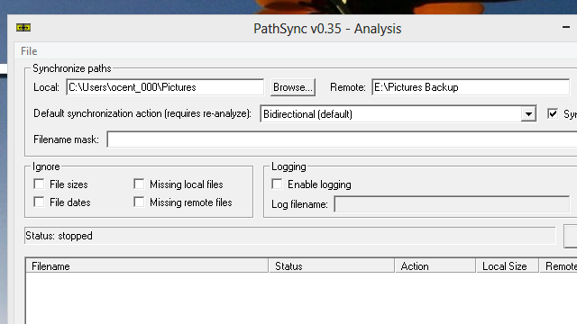 PathSync Compares and Syncs Files In Specific Remote or Local Folders