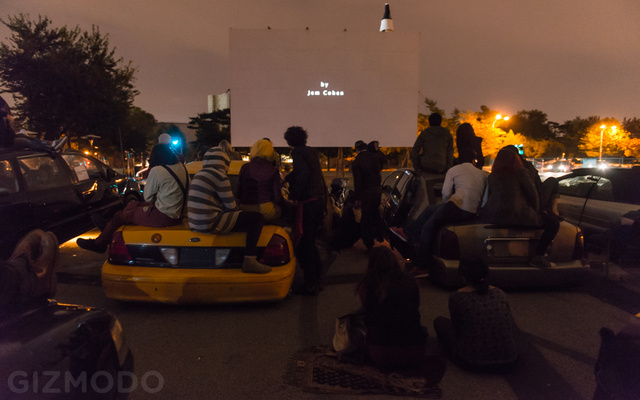 This Drive-In Theater Uses Junk Cars As Audience Seating