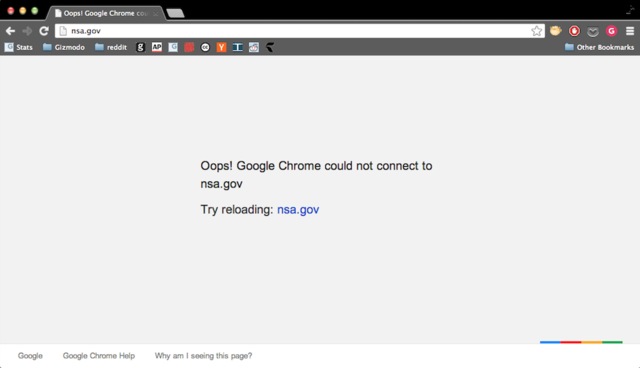 The NSA's Website Is Down