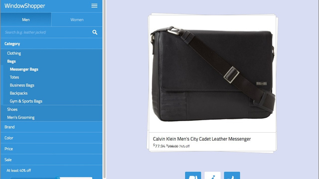 WindowShopper Makes Browsing for Deals on Clothes and Accessories Fun