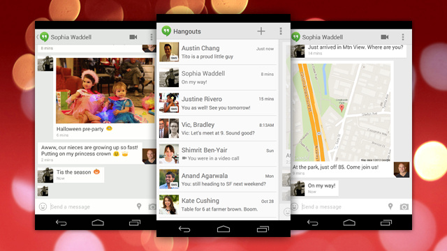 Google Hangouts Adds SMS Support, Location Sharing, and Animated GIFs