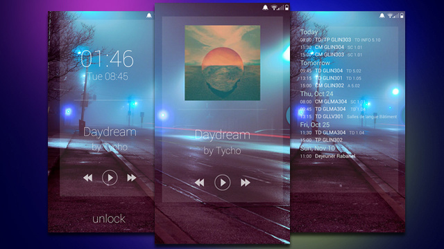 The Landscape Home Screen