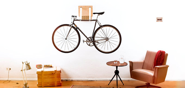 A Wall-Mounted Bike Rack Turns Your Ride Into Art