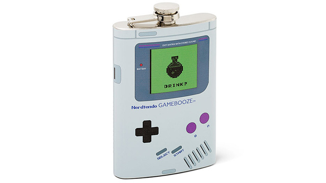 This Game Boy Flask Gives You the Courage Mario and Link Never Could