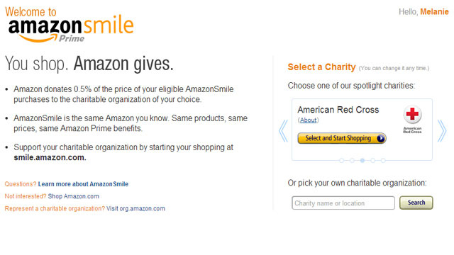 Amazon Will Donate Part of Your Purchases to Your Favorite Charity