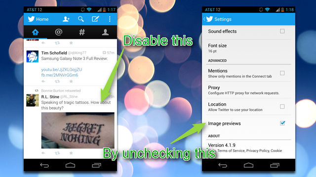 Disable Image Previews in the New Twitter Mobile Apps