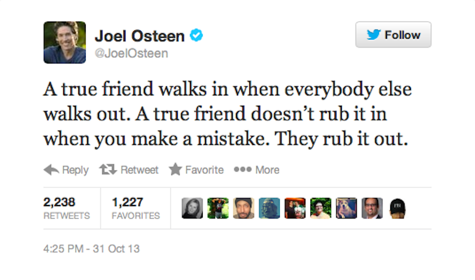 Very Important Friendship Advice from Joel Osteen