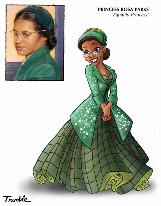 "Rosa Parks as Disney ""Equality Princess"""