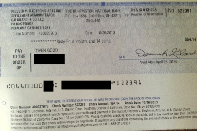 Madden Lawsuit Settlement Mails Out the Checks in Time for Next-Gen